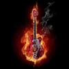 Аватар Гитара пылающая в огне