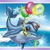 Аватар Дельфин с воздушными шариками в воде
