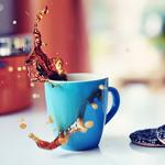 99px.ru аватар Кружка с выплескивающимся кофе и шоколадное печнье