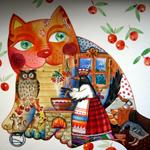 Аватар Необычный нарисованный кот