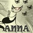 Аватар Кошка в окружении бабочек (Anna) Аня, Анечка, Анна