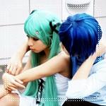 99px.ru аватар Косплей вокалоиды Хатсуне Мику и Шион Кайто
