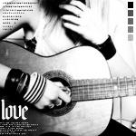 Аватар Девушка сидит с гитарой ('Love')