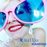 Аватар Девушка в больших очках с голубыми стеклами ('Feel like dancing' / 'Люблю танцевать')
