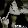 Аватар Курящая девушка показывает неприличный знак ('Hate' / 'Ненависть')