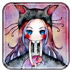 Аватар Девочка в шапке с кошачьими ушками и рыбкой в руках