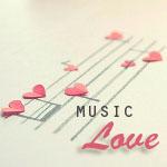 Аватар Ноты с сердечками ('Music Love' / 'Музыка любви')