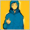 Аватар Craig Tucker / Крэйг Такер из мультсериала Южный парк в стиле аниме / South Park in anime style показывает средний палец