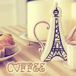 Аватар Чайник в виде Эйфелевой башни, свеча, кофе и пирожные ('Coffee' / 'Кофе')
