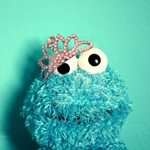 Аватар COOKIE MONSTER (печеньковое чудовище) принцесса