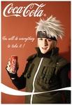 Аватар Косплеер Какаши с баночкой Колы в руке (Coca-Cola)