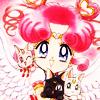 Аватар Чиби-Чиби с Луной и Артемисом в руках, манга 'Сейлор Мун'