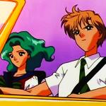 Аватар Мичиру и Харука в авто, аниме 'Сейлор Мун'