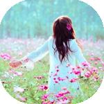 99px.ru аватар Девушка в поле с розовыми цветами