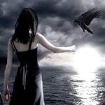 Аватар Девушка с вороном