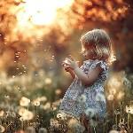 Аватар Девочка на поляне с одуванчиками