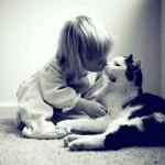 Аватар Девочка целует кота