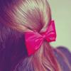 Аватар Девушка с розовым бантом