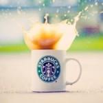 Аватар Из кружки Starbucks coffee выплескивается кофе