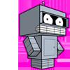 Аватар Квадратный Бендер Бендинг Родригес-герой мультсериала Футурама, робот-cгибальщик.
