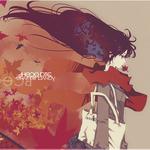 Аватар Девушка с чёрными волосами на фоне осенних листьев (Эта осень убила всё)