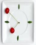 Аватар Тарелка с вишенками, расположенными в форме часов