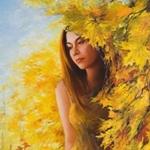 Аватар Девушка у осеннего дерева