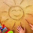 Аватар Солнце нарисованное на песке