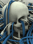 Аватар Череп опутан проводами