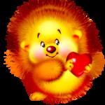 Аватар Смешной ёжик с сердечком