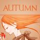 Аватар Девушка с рыжими волосами и листиком в руках (Autumn)