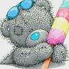 Аватар Медвежонок держит в лапах мороженое