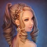 Аватар Девушка с густыми волосами