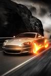 Аватар Aston Martin с горящими от скорости колесами