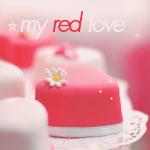 Аватар Пироженое в форме сердечка (My red love)