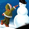 Аватар Девочка лепит снеговика