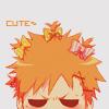 Аватар Ичиго Куросаки из аниме Блич / Bleach с бантиками в волосах злится (cute)