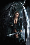 Аватар Черный ангел-девушка с мечём