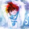 Аватар Дайске Нива и вокруг белые перья из аниме Код Ангела / D.N.Angel