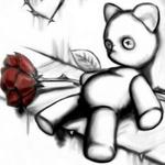 Аватар Грустный мишка с розой