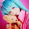 Аватар Вокалоид Хатсуне Мику с плюшевым мишкой (косплей)