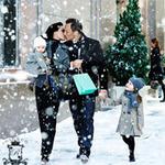 99px.ru аватар Семья гуляет по городу в новогодние праздники