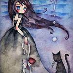 Аватар Девушка с котом