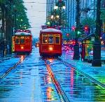 Аватар Трамваи в городе дождливым утром