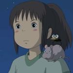 Аватар Тихиро с Боо на плече ночью. Из мультфильма Унесённые призраками / Spirited away