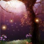 99px.ru аватар Дерево и светлячки в ночном лесу