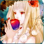 Аватар Готическая Лолита с яблоком