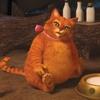Аватар Кот с сапогах объелся и сидит с огромным пузом возле миски с молоком