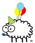 Аватар Овечка с воздушными шариками в праздничном колпаке (ТМ)
