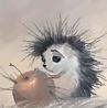 Аватар Ёжик с яблоком